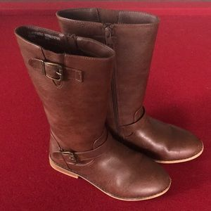 Cat & Jack brown boots 👢 size 4